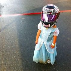Tiny Little Racing Princess. Adorbs.