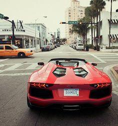 Topless Lamborghini Aventador