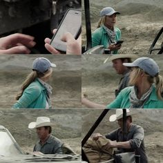 Amy: This is Ty's phone. This must be their Jeep. It's still running, where are they? Tim: I'm sure there's a simple explanation honey, don't worry. Heartland Season 11, Amy And Ty Heartland, Heartland Ranch, Heartland Tv Show, Ty And Amy, Amber Marshall, Ranch Life, Country Quotes, Collage Maker