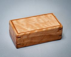 Decorative box, Small Wooden Box, Treasure box. Birch with Quilted Maple Lid. The Collector 1111-008-009 on Etsy, $85.00
