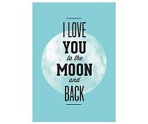 Restyle poster i love you to the moon
