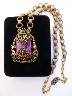 Purple Dragon Crystal Carving Pendant one Thing one Picture Vision of The Original Stone of The Charlotte Purple Crystal Necklace for Men and Women