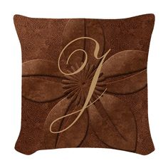 Chic Copper Texture Woven Throw Pillow