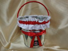 Case IH Themed Flower Girl Basket with Red and Black by StarBridal, $39.95