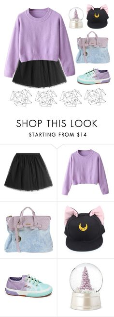 """Purple Moon 🌛"" by sellyankumala ❤ liked on Polyvore featuring RED Valentino, Secret PonPon, Superga, Shabby Chic, purple, grunge, moon, pastel and grungeboutique"