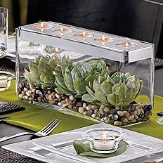 Elegant but natural. I like the leaf under the candle holder on the plates too    http://www.partylite.biz/sites/nikkihendrix/productcatalog?page=decoratingIdeas&diPage=5