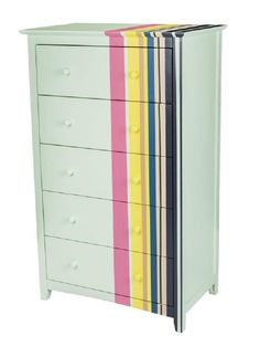 DIY Dresser re-do with colorful stripes