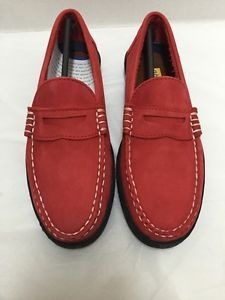 Keds-Red-Suede-Shoes-Loafers-Slip-On-Flats-Womens-Sz-7-5-New-Old-Stock