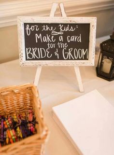 Keep kids entertained with a make a card for the #bride & #groom station. They, and their parents, will thank you for it! And, you'll have some masterpieces to remind you of your special day!