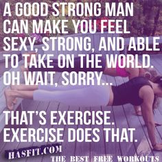 HASfit BEST Workout Motivation, Fitness Quotes, Exercise Motivation, Gym Posters, and Motivational Training Inspiration - Stong man can do that too! Fitness Studio Motivation, Health Motivation, Weight Loss Motivation, Exercise Motivation, Exercise Quotes, Tuesday Motivation, Health Goals, Fitness Home, Health Fitness