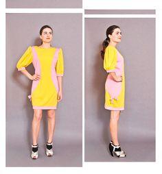 #Ungaro 1980s French Split Dress #vintagedress #designervintage #vintageungaro #etsy #vintage