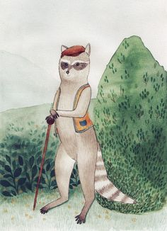 Mr. Racoon Racoon, Gouache, Sweatshirt, Illustrations, Book, Art, Pattern, Art Background, Sweater Shirt