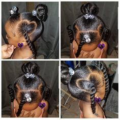 African Hairstyles For Kids, Black Baby Girl Hairstyles, Natural Hairstyles For Kids, Kids Braided Hairstyles, Hairdos, Hair Dos For Kids, Braids For Kids, Hair Kids, Black Natural Hair Care
