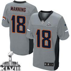 Peyton Manning Game Jersey-80%OFF Nike Peyton Manning Game Jersey at Broncos Shop. (Game Nike Men's Peyton Manning Grey Shadow Super Bowl XLVIII Jersey) Denver Broncos #18 NFL Easy Returns.