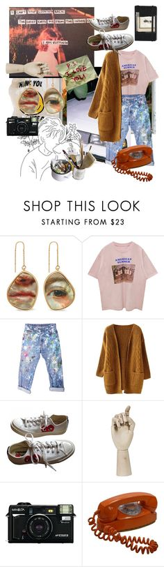 """I  L O V E D  A N D  Y O U  L E F T"" by cluelesspeach ❤ liked on Polyvore featuring Mulberry, Moleskine, Rialto Jean Project, Converse, HAY, Mason's, men's fashion, menswear, grunge and 90s"