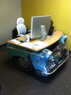 1950s Chevy desk, I want this or a kitchen table.