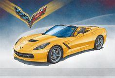 14 best corvette art print by lemireart images on pinterest