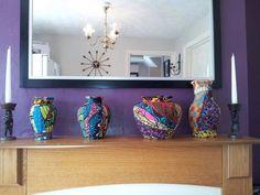 Vases in african prints