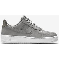 Nike Air Force 1 07 Suede Women's Shoe. Nike.com ($110) ❤ liked on Polyvore featuring shoes, nike, nike shoes, nike footwear, suede leather shoes and suede shoes