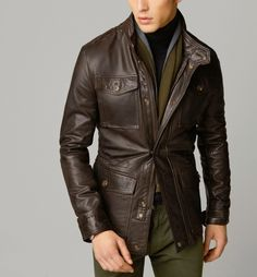 Cultures Hommes: Field Jacket Massimo Dutti