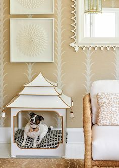 neutral, classic, inviting, storage, dog house Grey Bedroom Design, Marble Fireplace Mantel, Interior Styling, Interior Design, White Headboard, Transitional Living Rooms, Pink Wallpaper, Wallpaper Ideas, Contemporary Interior