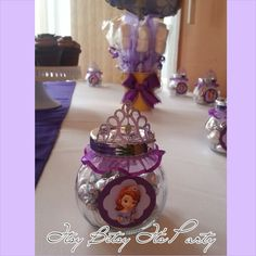 PRINCESS SOFIA FAVORS (Sofia the First Favors) (Princess Sofia party favors) (princess Sofia candy buffet) (princess favors)(crown favors) by itsybitsyitsparty on Etsy
