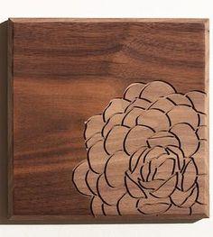 Echeveria  Wood Art #1