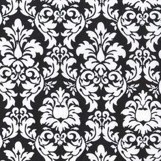 Black & White Damask Cotton Fabric [[fat quarter//half yard//by the yard]] by ThePinCushionFabrics on Etsy https://www.etsy.com/listing/276558026/black-white-damask-cotton-fabric-fat