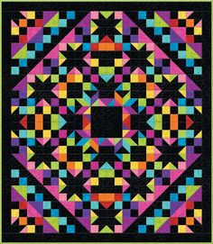 Wilmington Prints Essentials Brights Starry Eyed Quilt Pattern 66 x 76 | Patterns & Books