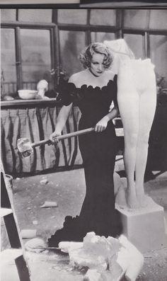 Marlene Dietrich having a smashing time.