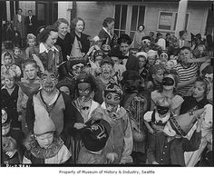 Children in Halloween costumes at High Point, Seattle, 1943 by IMLS DCC, via Flickr