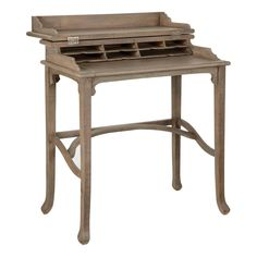 Handmade Campaign Writing Desk, Small - OKA 265 and pale oak smaller
