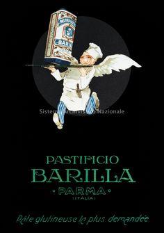 Immagine del cuoco volante, creata dalle Industrie Grafiche F.lli Zafferri, utilizzata a partire dal 1926 su cartoline postali, calendari e segnaprezzo