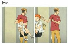 Ok, but how light must Hinata be for Terushima to just toss him aside like that? XD