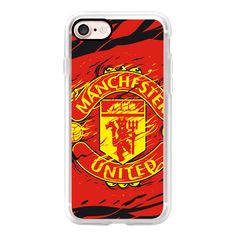Manchester United - iPhone 7 Case, iPhone 7 Plus Case, iPhone 7 Cover,... (570 ZAR) ❤ liked on Polyvore featuring accessories, tech accessories and android case