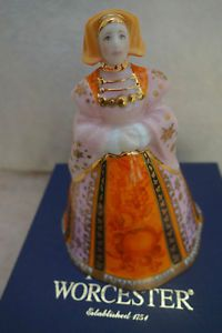 Royal Worcester Candle Snuffer ANNE OF CLEVES - 1999 Anne Of Cleves, Candle Snuffer, Tudor History, Worcester, The Crown, Candles, Christmas Ornaments, Holiday Decor, Christmas Jewelry