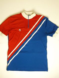 Vintage Short Sleeve Cycling Jersey