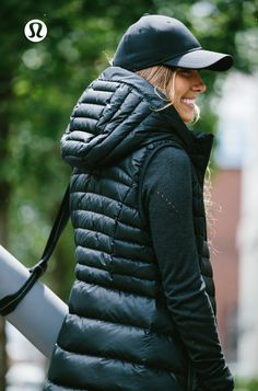 Down For It Vest. All the fluff without the puff—this lululemon down vest was designed to keep you warm when the temperature drops.