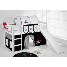 Hochbett mit Rutsche weiß PIRAT - JELLE | Kids high bed with slide #lilokids #hochbett #highbed #kinder