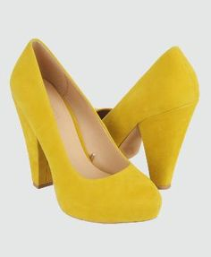 yellow pumps