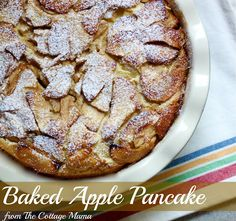 The Cottage Home: Recipe: Baked Apple Pancake this looks more like the one I had in Scottsdale