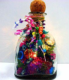 Patron Tequila Upcycled Bottle Lamp - Glass Bottle Lighting - Lighted Bottle Decor $30.00