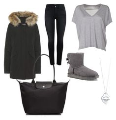 """""""❤"""" by www-krawolle on Polyvore featuring Mode, Woolrich, Tiffany & Co., Longchamp, Acne Studios und UGG"""