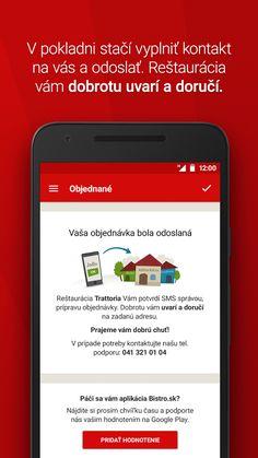 Bistro.sk - donáška jedla – snímka obrazovky