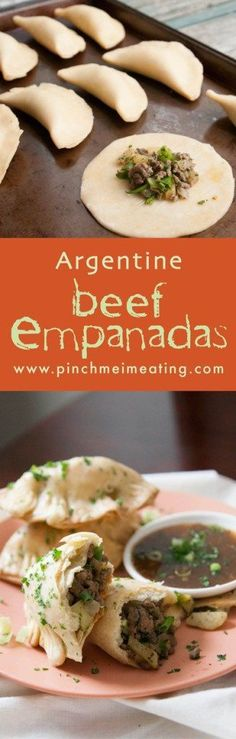 Get a taste of South America with these Argentine beef, potato, and onion empanadas. Serve them with chimichurri! These are basically the Argentine perogies Beef Recipes, Mexican Food Recipes, Cooking Recipes, Ethnic Recipes, Jalapeno Recipes, Easy Recipes, Comida Latina, Appetizer Recipes, Dinner Recipes