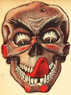 Halloween Mask from Weeny Witch Halloween Book c 1950s