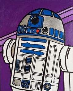 print of an original painting, printed on glossy cardstock. Kids Canvas Art, R2 D2, Star Wars Birthday, Pop Art, Original Paintings, Cross Stitch, Movie, Art Prints, Stars