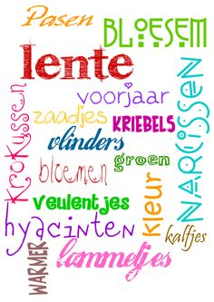 Lente, in afrikaans. Happy Spring, Spring Time, Word Art, Wisdom, Seasons, Teaching, Feelings, Sayings, School