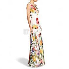 Women's Sexy Beach Casual Party Sleeveless Print Maxi Dress 3877680 2016 – $23.62