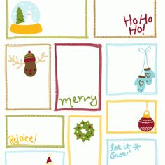 Printable tags or mini notes for Christmas!